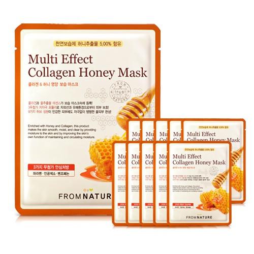蜂蜜膠原蛋白營養彈力面膜(10片裝)
